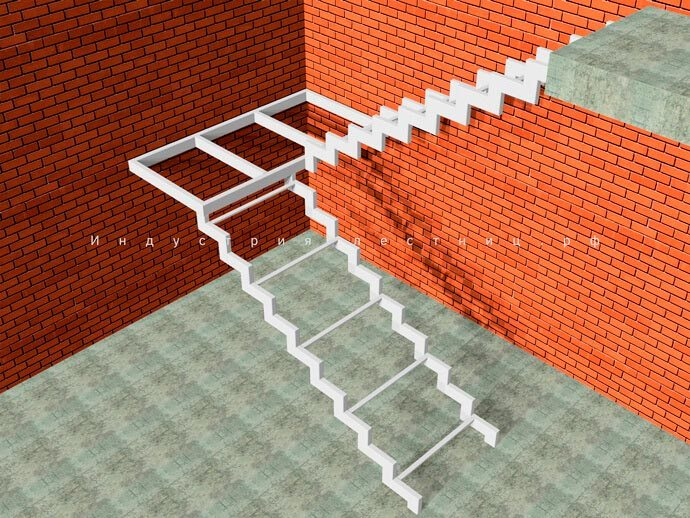 Каркас лестницы для дома из Профильной трубы, по всем нормам и правилам изготовления строго по ГОСт. Заказать лестницу из Профильной трубы в Москве и области на сайте либо по телефону +7 (985) 517-77-07